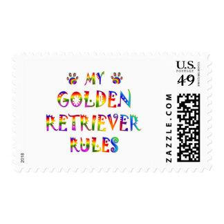 Diversión de las reglas del golden retriever sellos