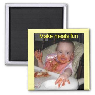 Diversión de los espaguetis del bebé imán de frigorifico