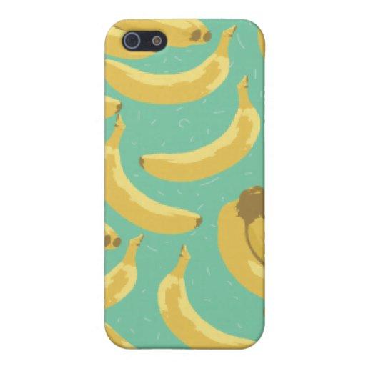 diversión de los plátanos iPhone 5 carcasa