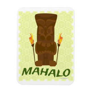 Diversión de Mahalo Tiki Imanes Rectangulares