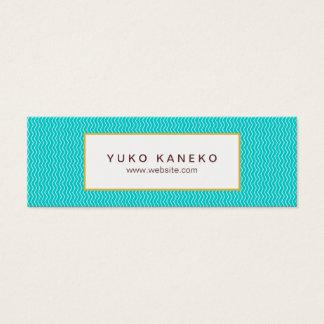 Diversión de moda de las azules turquesas del tarjeta de visita pequeña