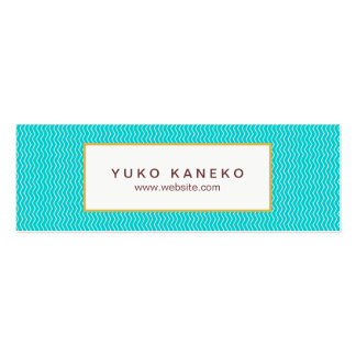 Diversión de moda de las azules turquesas del tarjetas de visita mini
