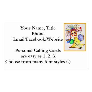 Diversión de moda de visita del personalizar artsy tarjetas de visita