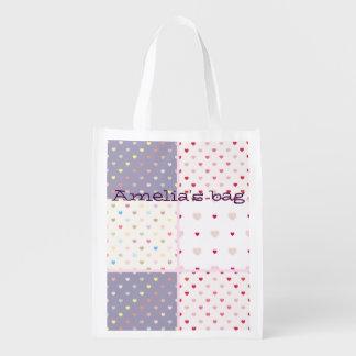 diversión de moda linda del modelo del corazón del bolsas para la compra