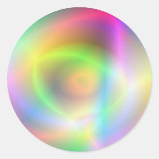 Diversión de neón pegatinas redondas