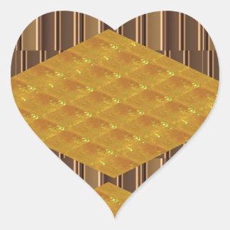 DIVERSIÓN de oro de los regalos de la decoración Colcomanias De Corazon Personalizadas