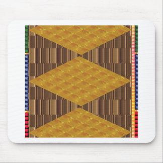 DIVERSIÓN de oro de los regalos de la decoración Tapetes De Ratones