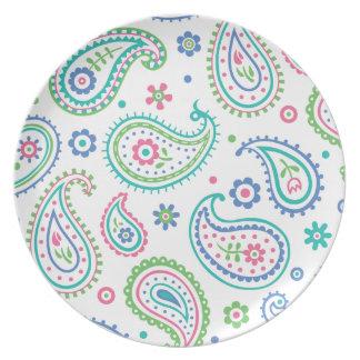 Diversión de Paisley - placa de la melamina Platos De Comidas