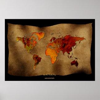 """Diversión decorativa """"poster del arte del mapa de"""