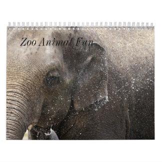 Diversión del animal del parque zoológico calendario
