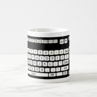 Diversión del arte del teclado de ordenador taza