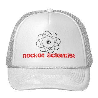 """""""Diversión del átomo del científico de Rocket"""" Gorras"""