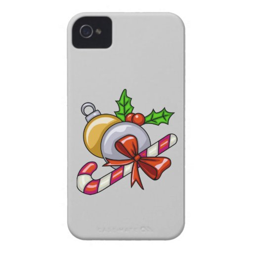 Diversión del bastón de caramelo Case-Mate iPhone 4 protectores