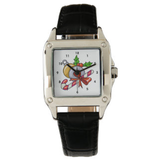 Diversión del bastón de caramelo relojes de pulsera