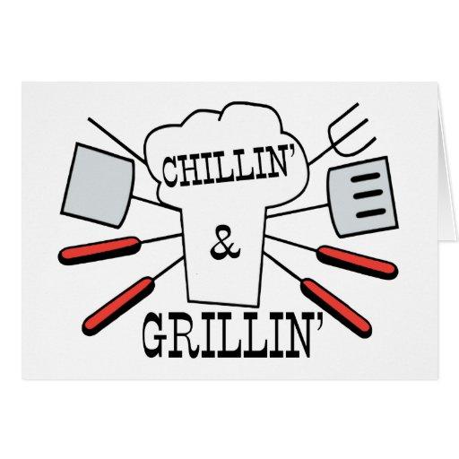 Diversión del Bbq de Chillin y de Grillin
