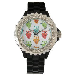 Diversión del búho relojes de pulsera