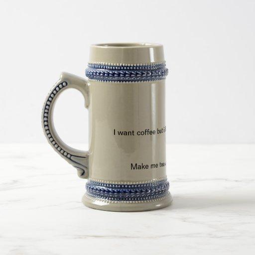 ¡Diversión del café y del té! Tazas De Café