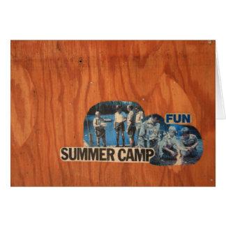 Diversión del campamento de verano tarjeta de felicitación