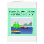 diversión del canotaje y de la navegación tarjetas