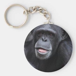 Diversión del chimpancé llavero redondo tipo pin
