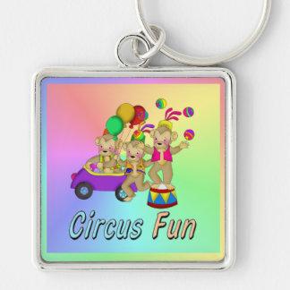 Diversión del circo llaveros personalizados