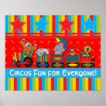 Diversión del circo para cada uno poster
