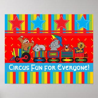Diversión del circo para cada uno poster póster