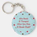 diversión del círculo de lectores que necesita a u llaveros personalizados
