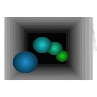 Diversión del color 3 esferas del infinito de la i tarjeton