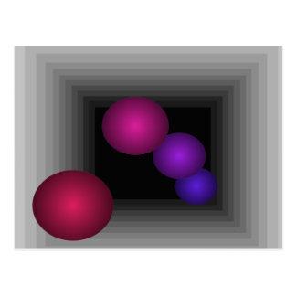 Diversión del color 3 esferas del infinito de la i postal