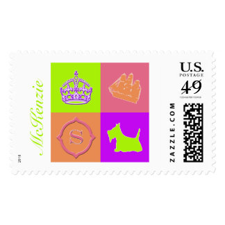 Diversión del color de no. 15 del escocés sellos