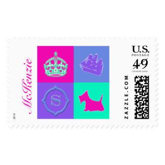 Diversión del color de no. 15 del escocés timbre postal