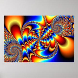 Diversión del color - fractal póster