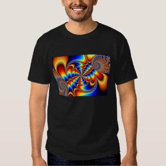 Diversión del color - fractal remeras