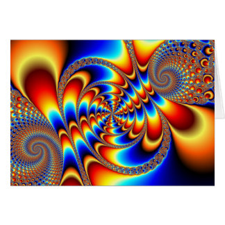 Diversión del color - fractal tarjeta de felicitación