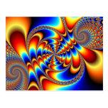 Diversión del color - fractal tarjeta postal