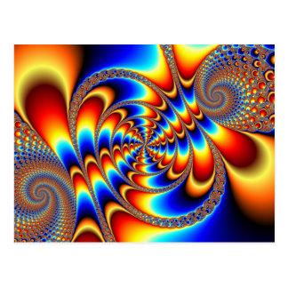 Diversión del color - fractal tarjetas postales