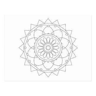 Diversión del colorante - mandala 1 tarjetas postales