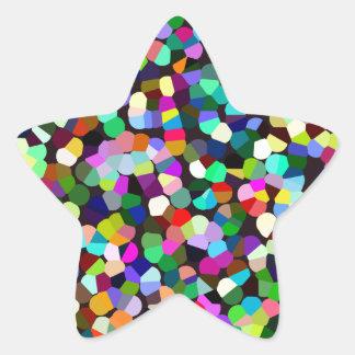 Diversión del confeti pegatina en forma de estrella
