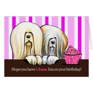 Diversión del cumpleaños de Lasa Tarjeta De Felicitación