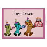 Diversión del cumpleaños del perrito felicitación