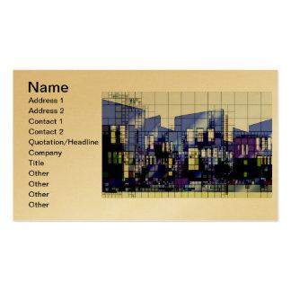 Diversión del destino de la ciudad de la propiedad tarjetas de visita