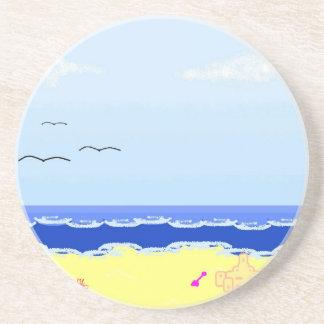 Diversión del día de la playa posavasos personalizados