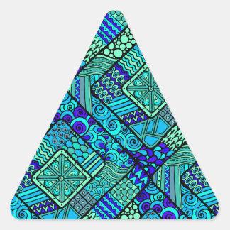 Diversión del diamante del modelo de Asia de la Pegatina Triangular