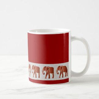 Diversión del elefante tazas de café