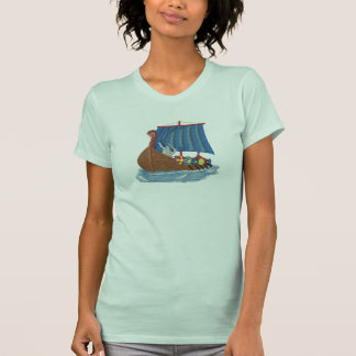 Diversión del escandinavo de la nave de Viking del T-shirts
