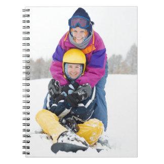 Diversión del esquí libreta