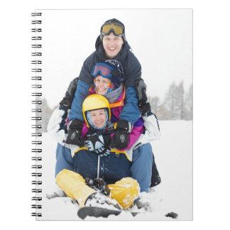 Diversión del esquí libros de apuntes con espiral