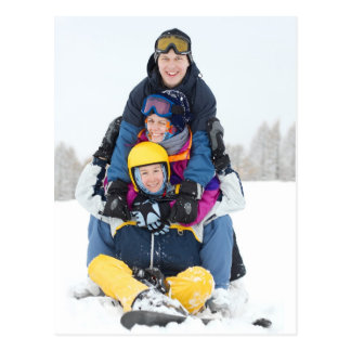 Diversión del esquí postal