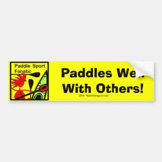 Diversión del fanático del deporte de la paleta etiqueta de parachoque